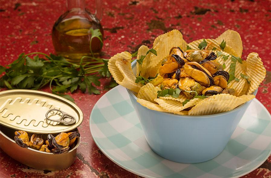 fotografía comida patatas