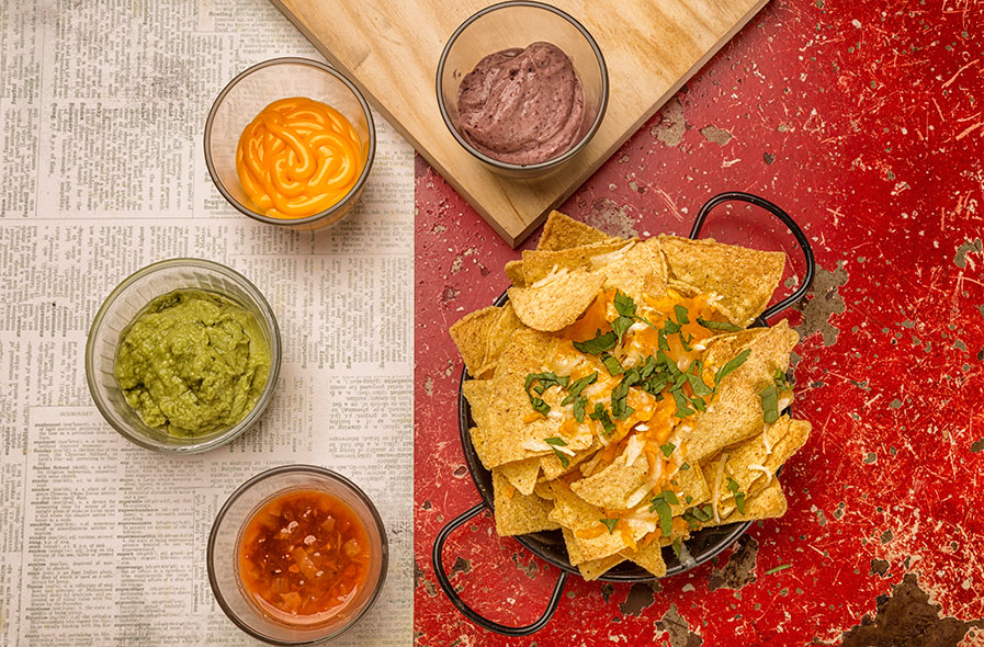 fotografía comida Nachos