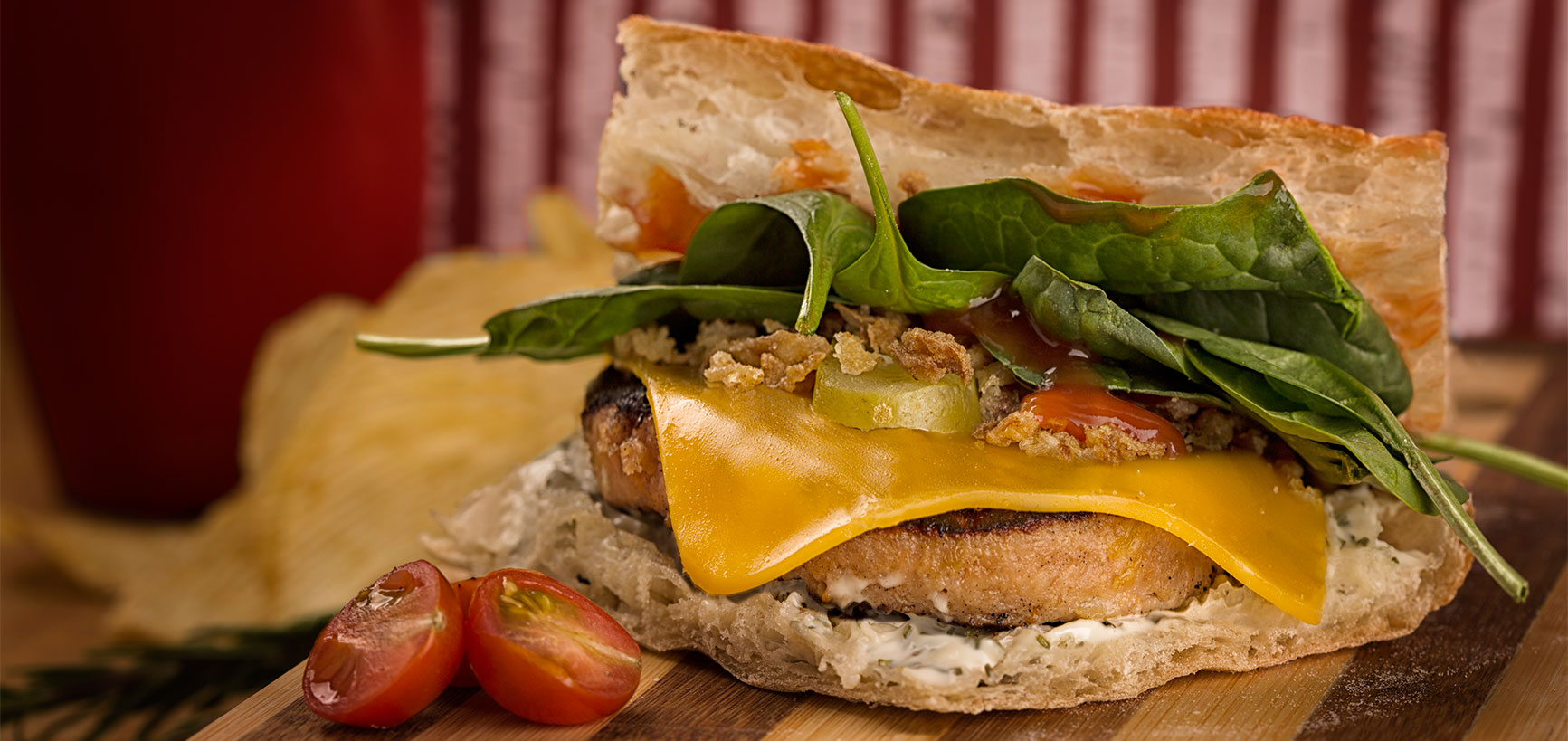 fotografía comida hamburguesa especial
