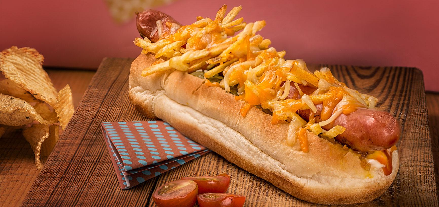 fotografía comida hotdog especial