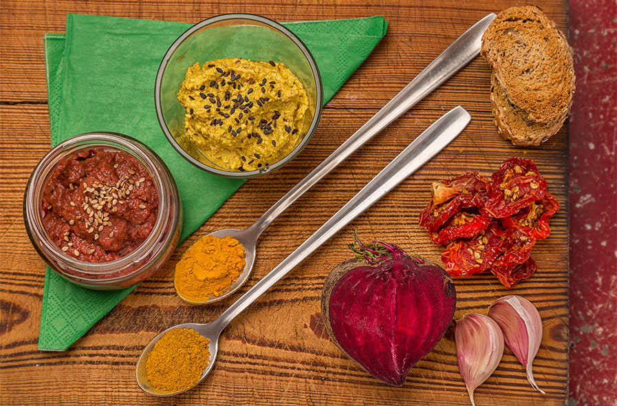fotografía comida humus