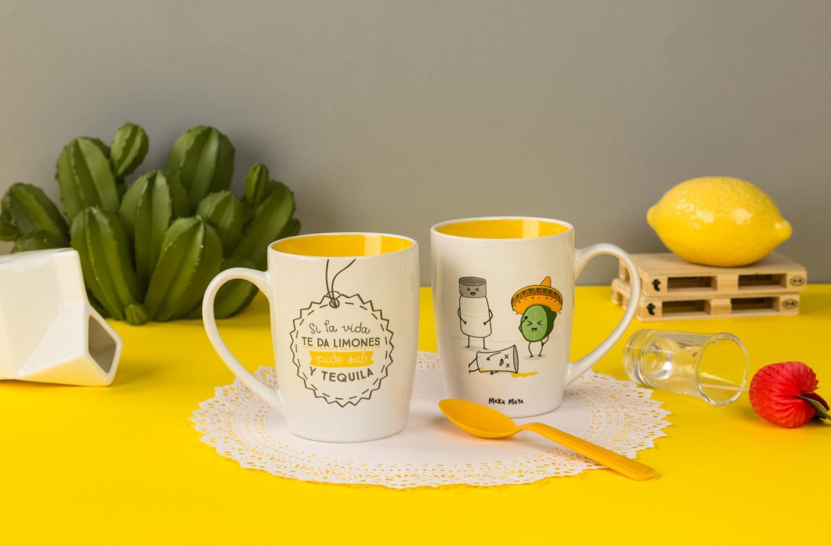 Foto publicitaria de tazas