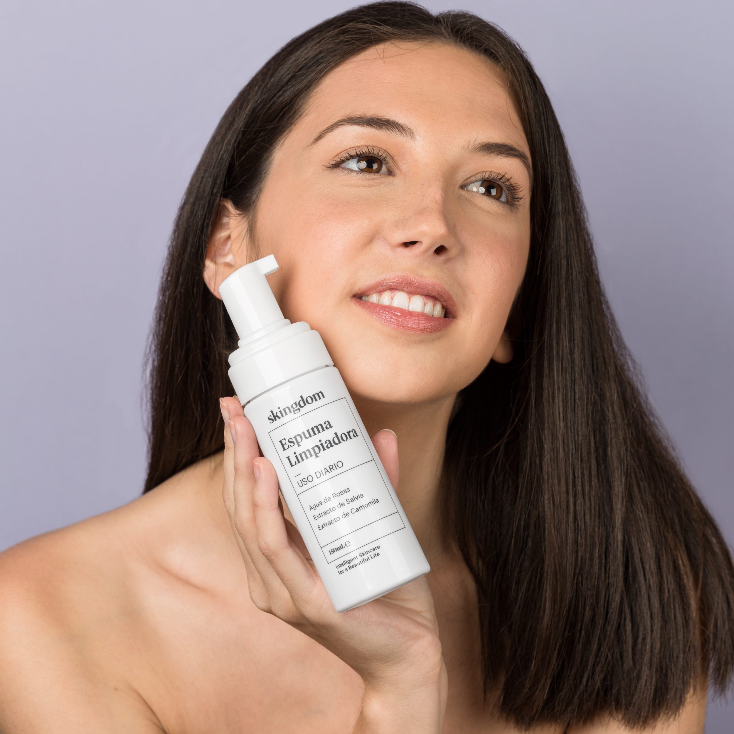 foto cosmética con modelo