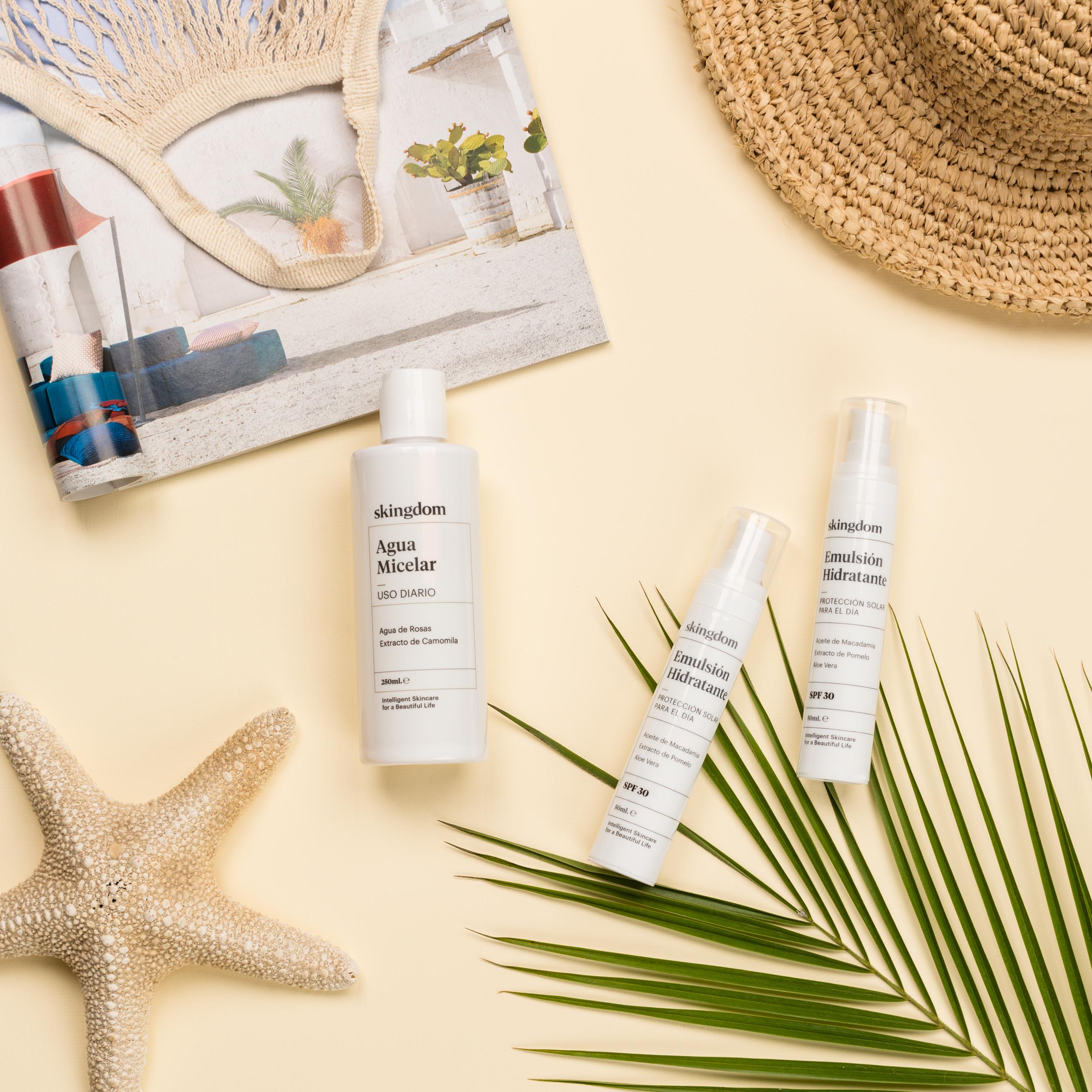 flat-lay ecommerce cosmética